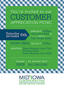 mid-iowa customer appreciation invite