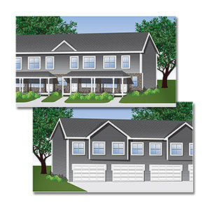 Reed Street TownHomes Illustration