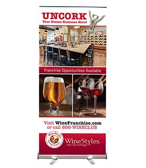 winestyles retractable banner